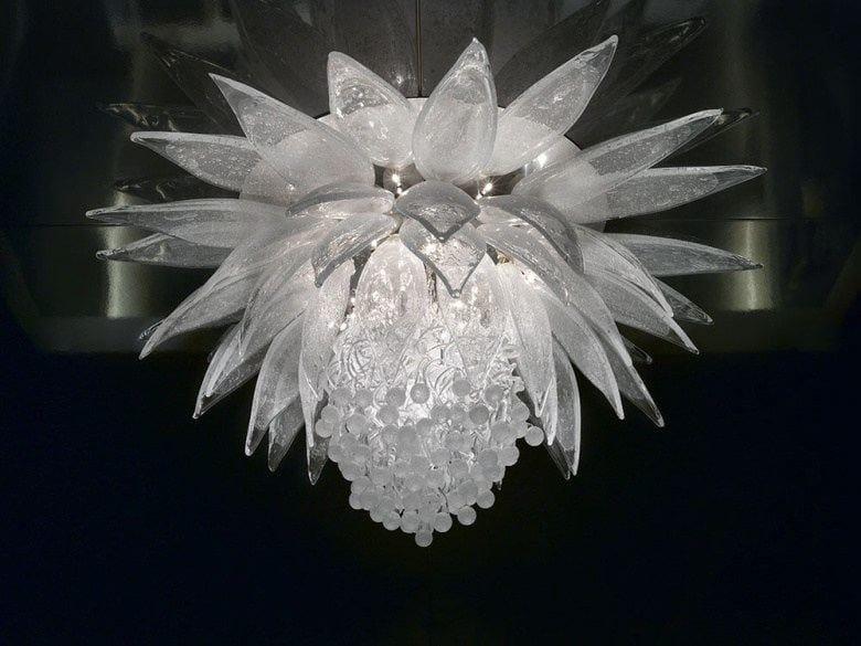 Crystal ceiling lamp LOTUS FLOWER by Lasvit