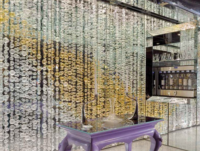 Blown glass decoration CHAMPAGNE by Lasvit