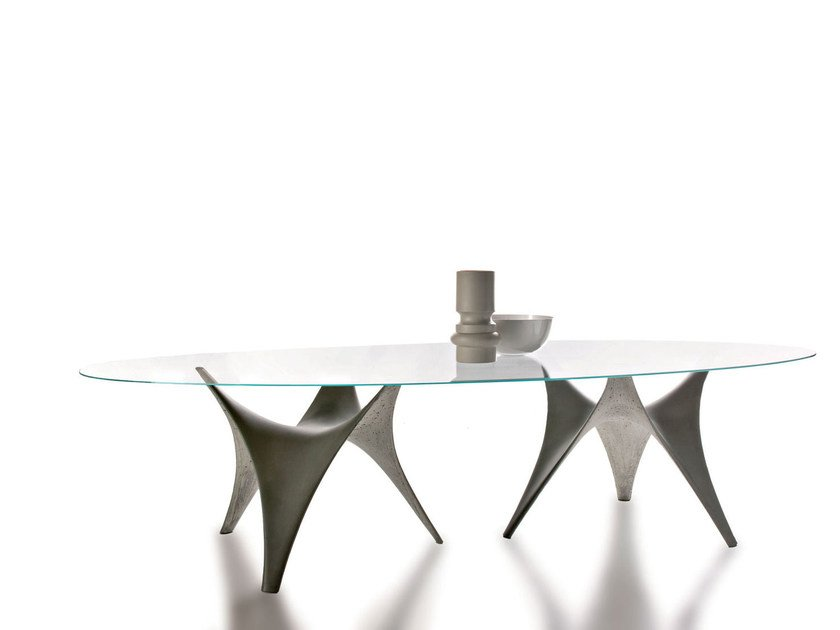 Awesome Oval Glass Table ARC | Oval Table By Molteniu0026C
