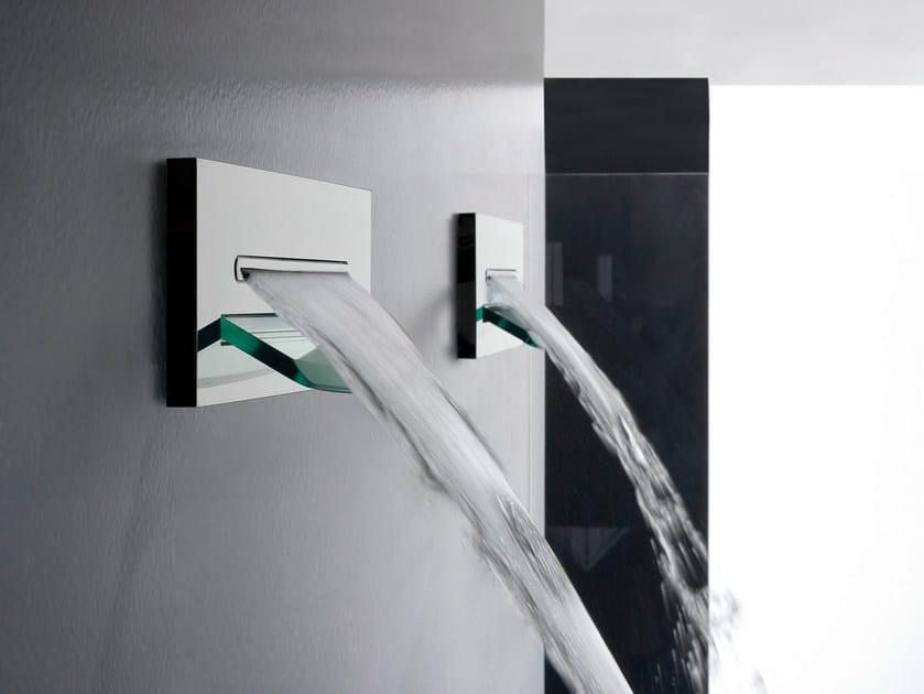 Wall-mounted waterfall shower SHIRÒ | Waterfall shower by ZAZZERI