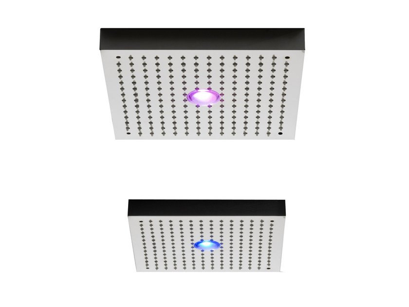 Ceiling mounted rain shower with built-in lights SHIRÒ | Ceiling mounted overhead shower by ZAZZERI