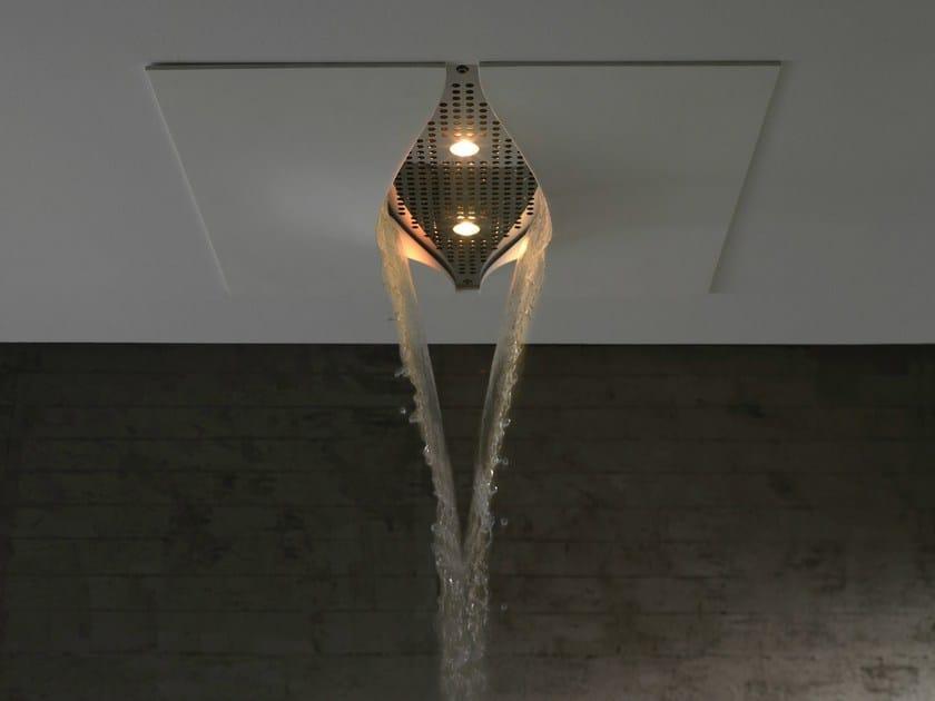 Rain shower with built-in lights VIRGIN | Overhead shower by ZAZZERI