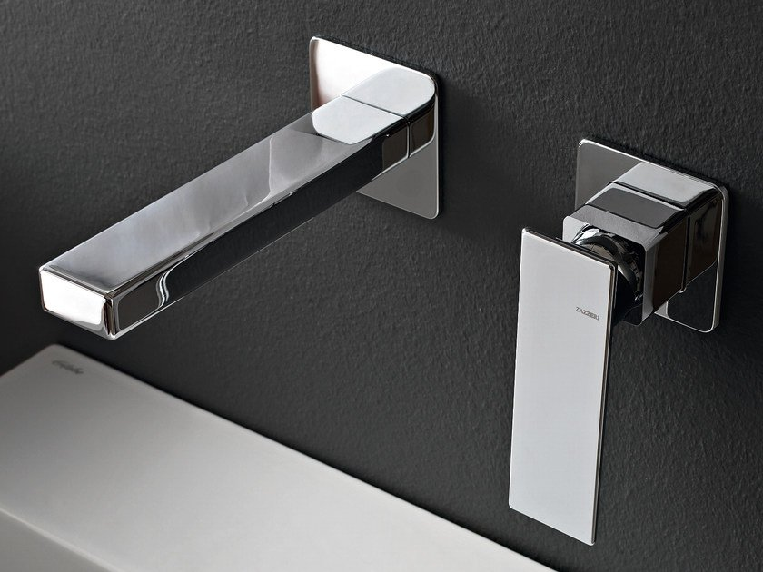 Wall-mounted chrome-plated bathtub mixer TOSCANO by ZAZZERI