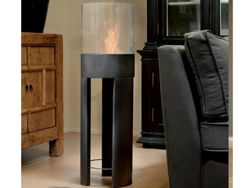 Freestanding bioethanol fireplace RIO by BRITISH FIRES
