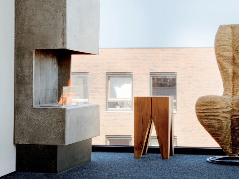 Bioethanol wall-mounted outdoor fireplace NUORO by BRITISH FIRES