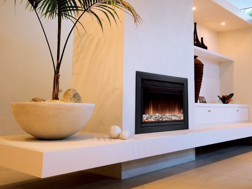 Wall-mounted electric built-in fireplace WHITWELL by BRITISH FIRES