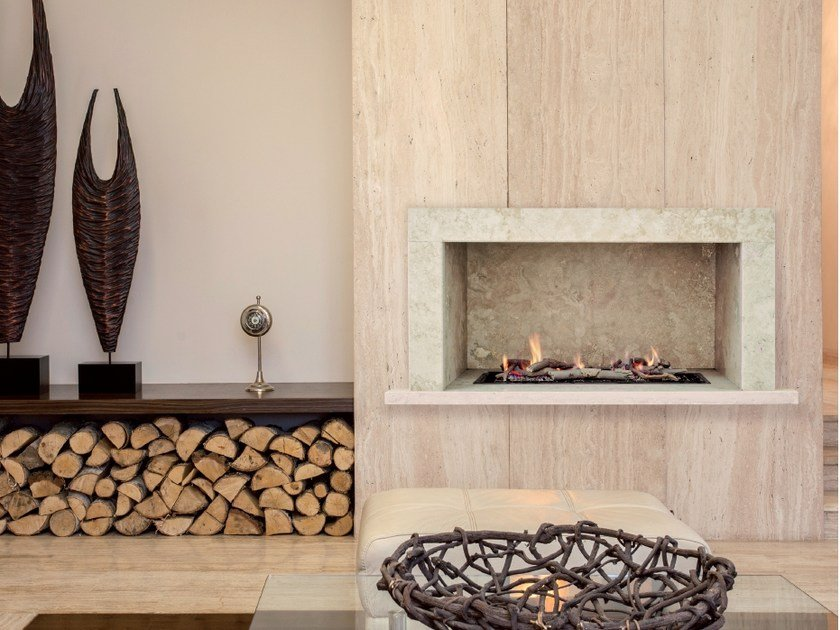 Gas wall-mounted hanging fireplace BRF BOX by BRITISH FIRES