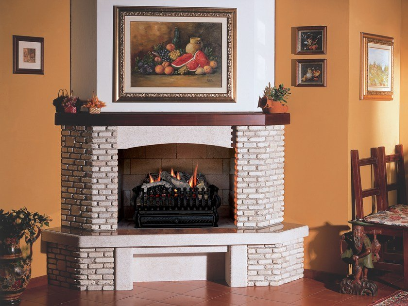 Gas wall-mounted fireplace VESTA SEVILLE by BRITISH FIRES