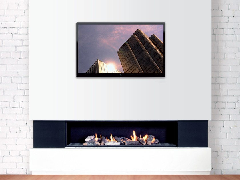 Gas wall-mounted fireplace DANCING FIRE 150 by BRITISH FIRES
