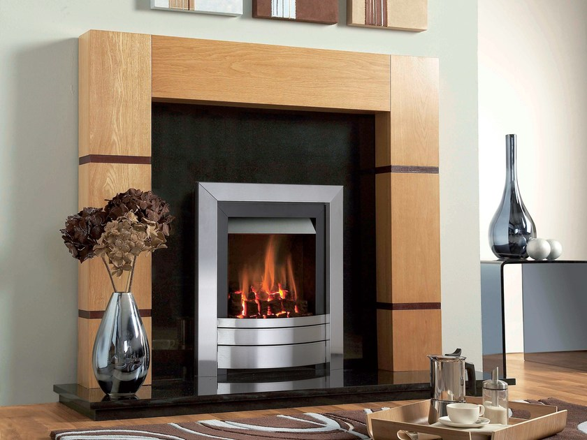 Gas wall-mounted fireplace MIDAS E by BRITISH FIRES