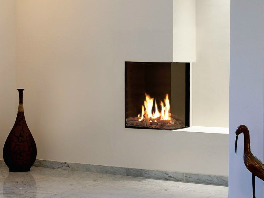 Double-sided gas closed fireplace VISTA 40 by BRITISH FIRES