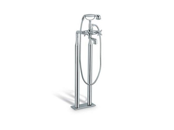 Floor standing bathtub tap with diverter with hand shower ANTEA | Floor standing bathtub tap by newform