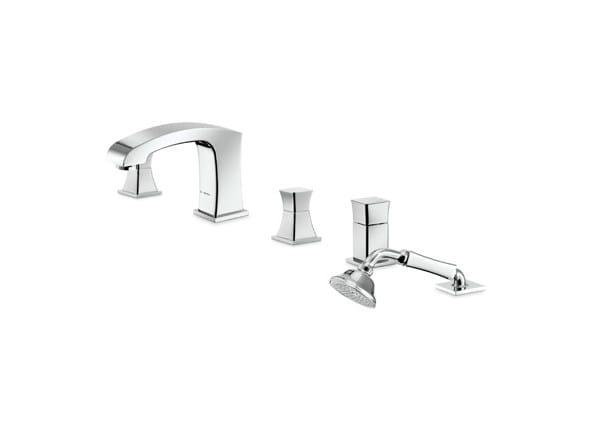 4 hole bathtub set with diverter with hand shower CLASS-X   Bathtub set by newform