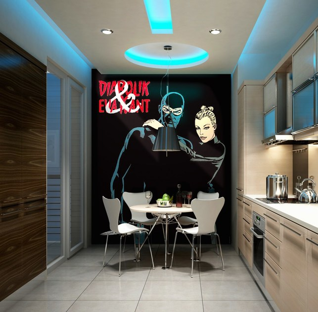 Adhesive washable wallpaper UNA VITA IN NERO by MyCollection.it
