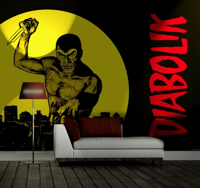 Adhesive washable wallpaper TERRORE SULLA CITTÀ by MyCollection.it