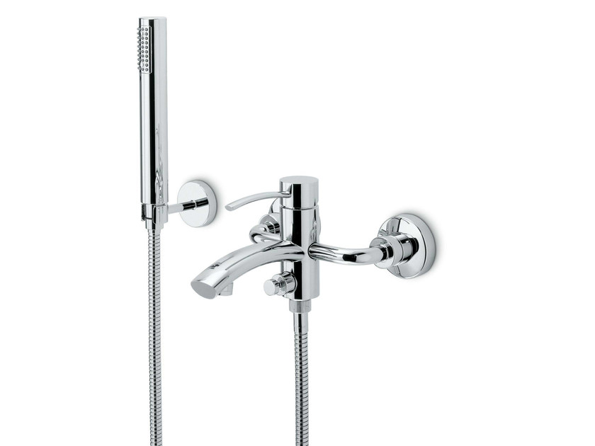 3 hole wall-mounted bathtub mixer with diverter EL-X | Bathtub mixer by newform