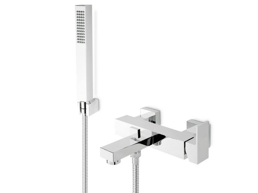 Wall-mounted bathtub mixer with hand shower ERGO-Q | Bathtub mixer with hand shower by newform
