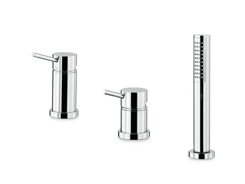 3 hole bathtub mixer with hand shower X-TREND   3 hole bathtub set by newform