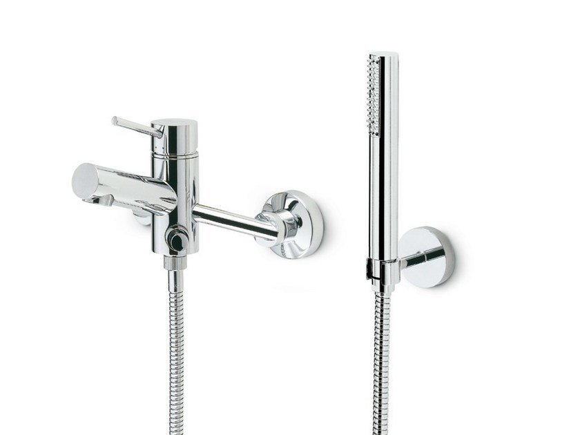 3 hole wall-mounted bathtub mixer with hand shower X-TREND | 3 hole bathtub mixer by newform