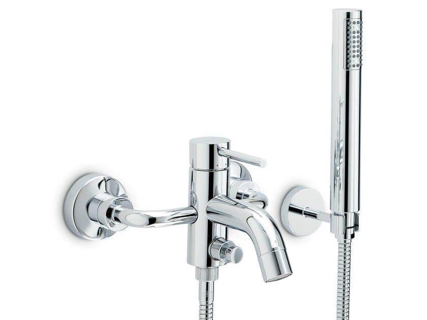 Wall-mounted single handle bathtub set with hand shower XT | Wall-mounted bathtub set by newform