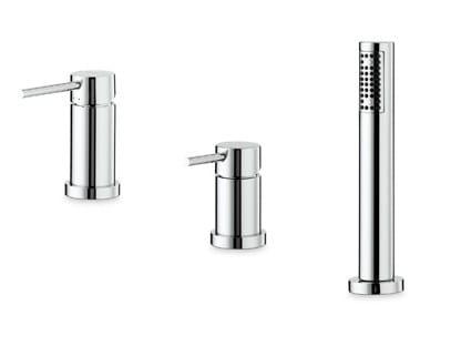 3 hole bathtub mixer with hand shower XT | 3 hole bathtub set by newform