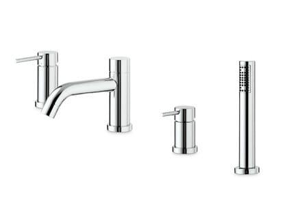 4 hole bathtub mixer with hand shower XT | 4 hole bathtub set by newform