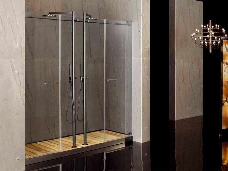 2 places niche glass shower cabin FILODOCCIA | Niche shower cabin by MEGIUS