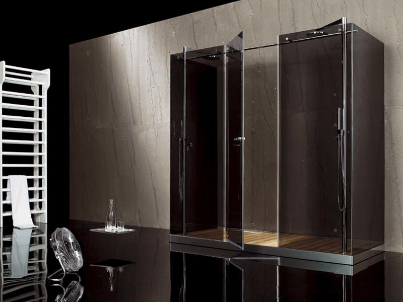 2 places glass shower cabin with hinged door FILODOCCIA | 2 places shower cabin by MEGIUS