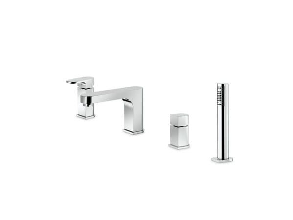4 hole bathtub set with diverter with hand shower X-LIGHT   Bathtub set by newform