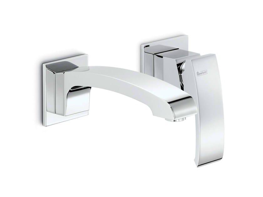 2 hole wall-mounted single handle washbasin mixer X-SENSE | Wall-mounted washbasin mixer by newform