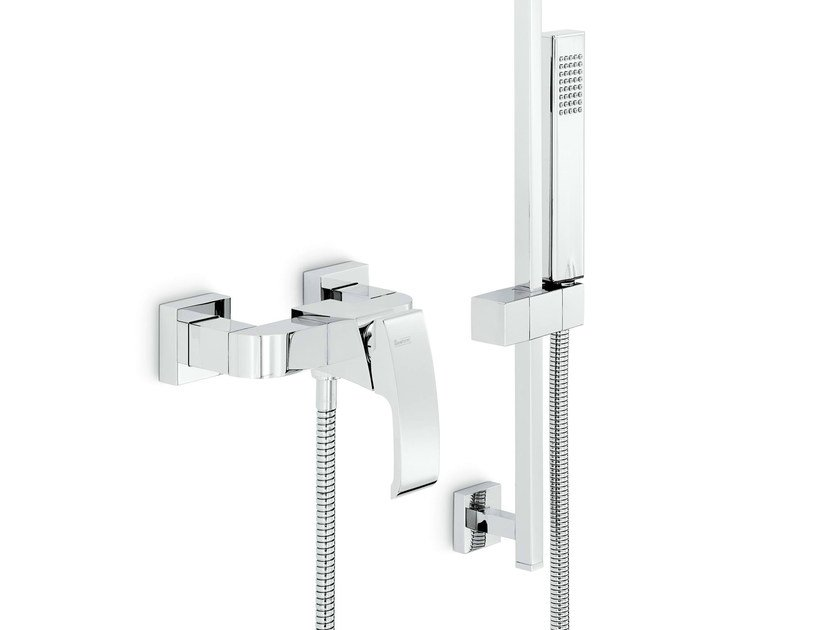 2 hole single handle shower mixer with hand shower X-SENSE | Shower mixer with hand shower by newform