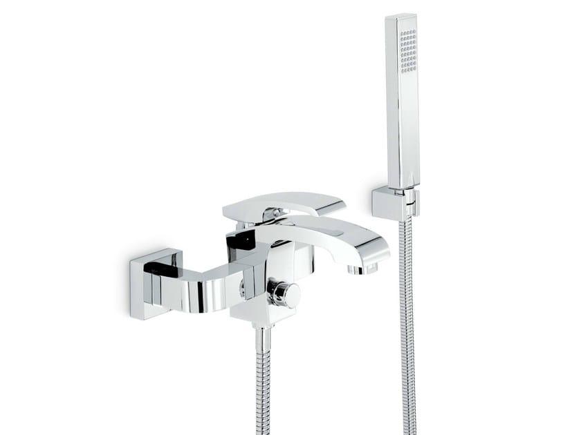 3 hole wall-mounted bathtub mixer with hand shower X-SENSE   Bathtub mixer by newform
