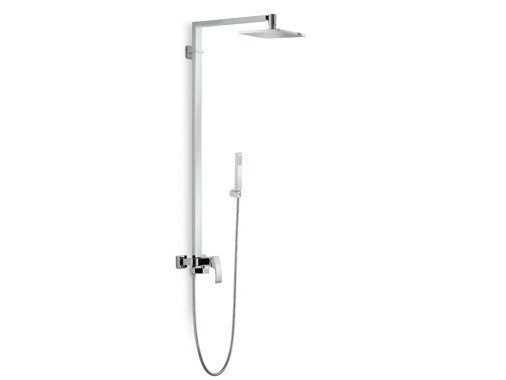 Shower mixer with hand shower with overhead shower X-SENSE | Shower mixer with overhead shower by newform