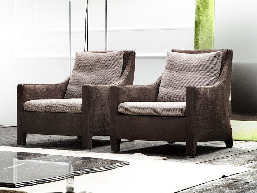 Upholstered armchair with armrests PENSIERO by ERBA ITALIA
