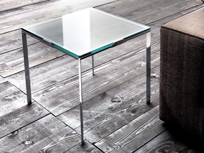 Square coffee table for living room LEGGERO by ERBA ITALIA