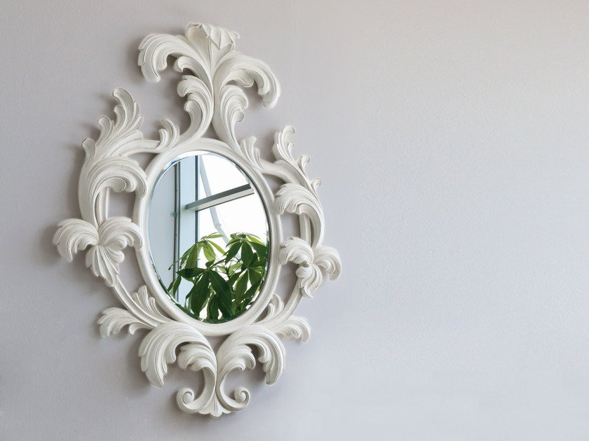 Wall-mounted framed mirror Mirror by Bizzotto