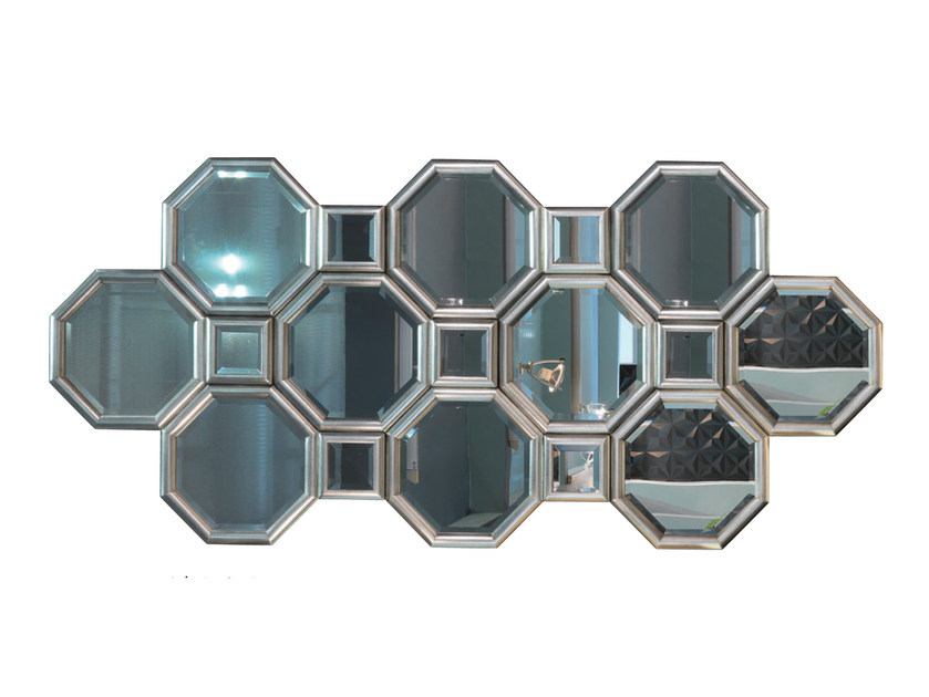 Silver leaf mirror PANDORA   Mirror by Bizzotto