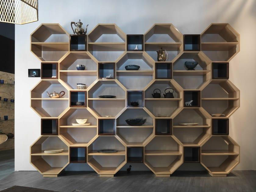 Wall-mounted modular bookcase PANDORA   Bookcase by Bizzotto