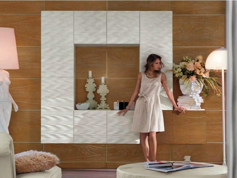 Wall-mounted lacquered modular storage wall MAORI | Storage wall by Bizzotto
