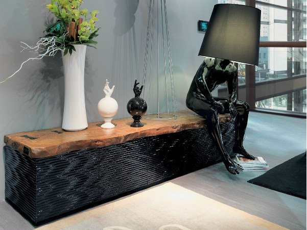 Wooden sideboard MAORI | Sideboard by Bizzotto