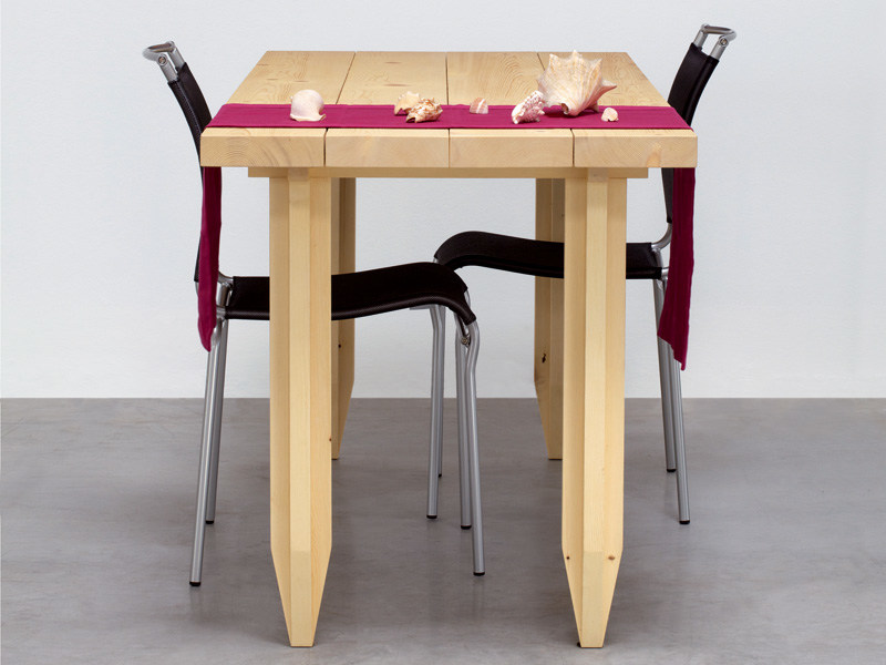 Rectangular solid wood table LAPIX by MENOTTI SPECCHIA