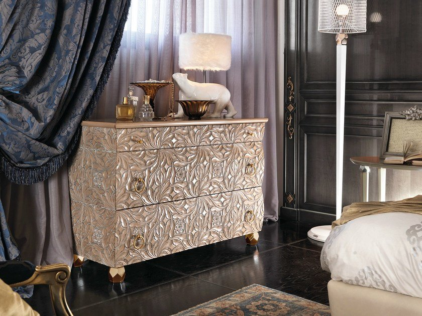 Wooden chest of drawers REBECCA | Chest of drawers by Bizzotto