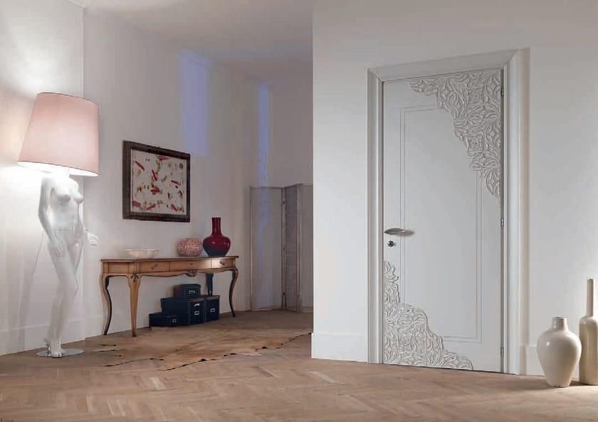 Hinged lacquered door REBECCA   Wooden door by Bizzotto