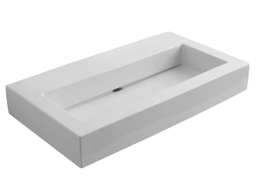 Countertop rectangular washbasin BLOK | Countertop washbasin by Rubinetterie Treemme