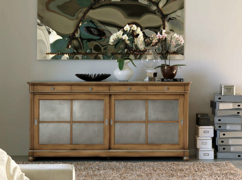 Sideboard with sliding doors TAORMINA | Sideboard by Bizzotto