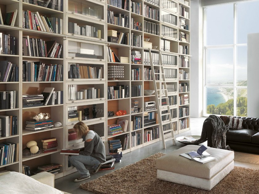 Open wooden bookcase TAORMINA | Bookcase by Bizzotto