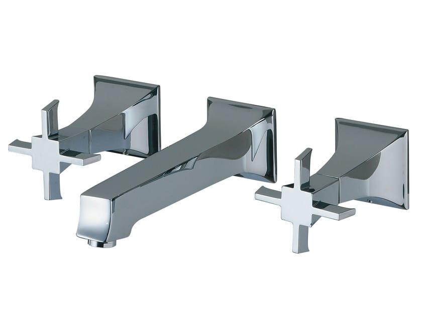 3 hole wall-mounted washbasin tap BRIDGE | Wall-mounted washbasin tap by Rubinetterie 3M