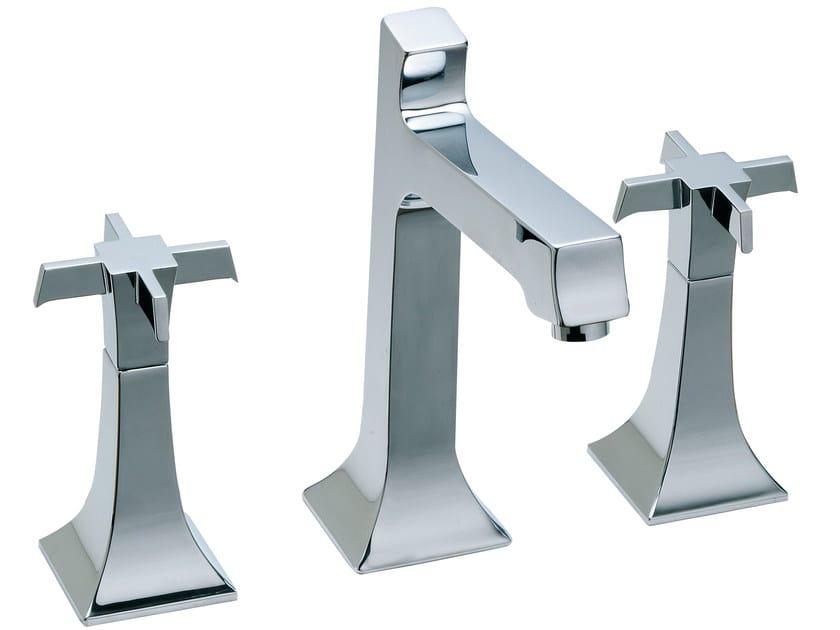 3 hole countertop washbasin tap BRIDGE   3 hole washbasin tap by Rubinetterie 3M