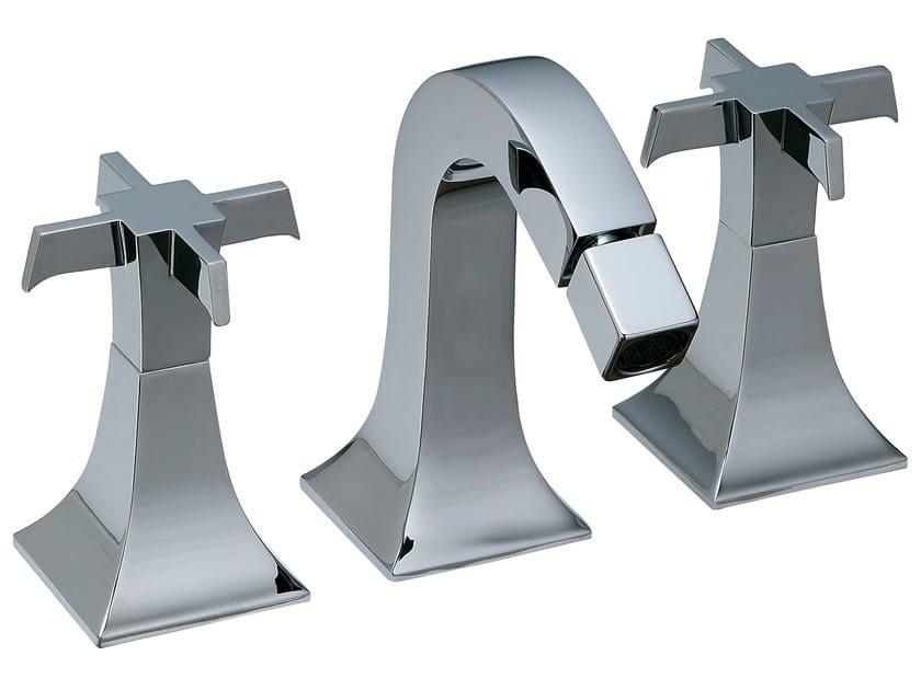 3 hole countertop bidet tap BRIDGE | 3 hole bidet tap by Rubinetterie 3M
