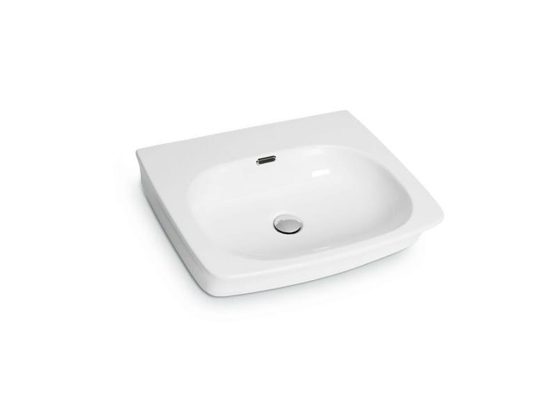 Countertop rectangular wall-mounted washbasin WASHBASINS | Rectangular washbasin by newform